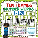 Ten Frames and Number Word Posters 1-120 (Citrus Chevron)