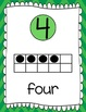 Ten Frames and Number Words 1-100 (Green Chevron)