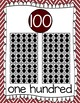 Ten Frames and Number Words 1-100 (Maroon/White)