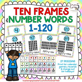 Poster Number Words 1-10 Teaching Resources | Teachers Pay Teachers