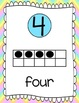 Ten Frames and Number Words 1-100 (Pastel Rainbow Chevron)
