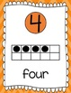 Ten Frames and Number Words 1-100 (Orange Chevron)