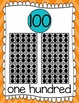 Ten Frames and Number Words 1-100 (Orange/Turquoise Chevron)