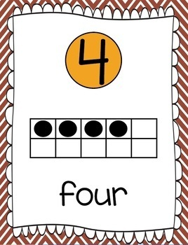 Ten Frames and Number Words 1-100 (Thanksgiving Chevron)