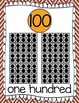 Ten Frames and Number Word Posters 1-120 (Chestnut/Gold Chevron)