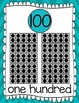 Ten Frames and Number Words 1-100 (Turquoise Chevron)
