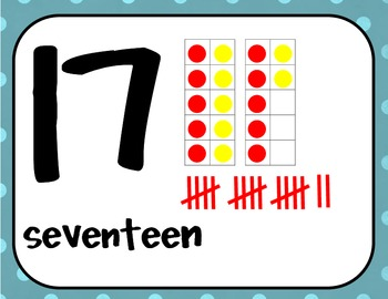Ten Frames and Tallies Posters