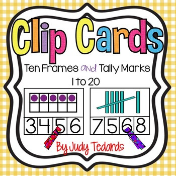 Ten Frames and Tally Marks Clip Cards (Numbers 1-20)