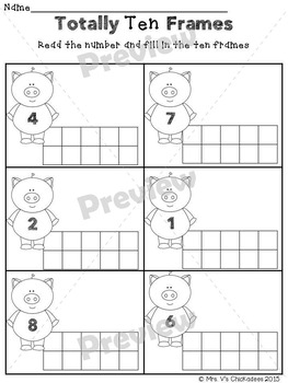 Ten Frames and Tally Marks: Math Mini Unit (Numbers 1-20)