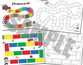 Ten Frames - Game Mats - Math Centers - Adding