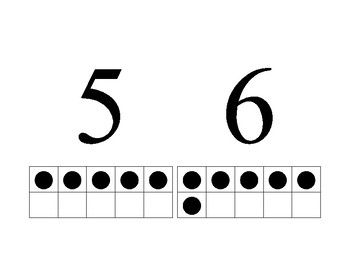 Ten Frames dots for numbers 1 to 10