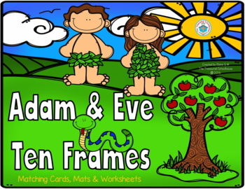 Ten Frames for 1-20 with Adam & Eve