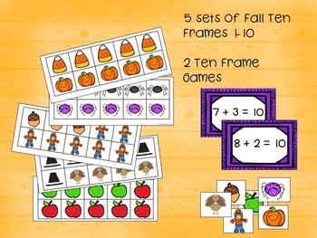 Ten Frames for Fall