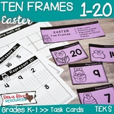 Ten Frames for Kindergarten Easter Math Center | Number Practice 1-20