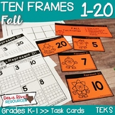 Ten Frames for Kindergarten Fall Math Center | Number Practice 1-20