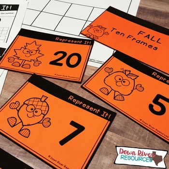 Ten Frames for Kindergarten Fall Math Center | Number Practice 1-20