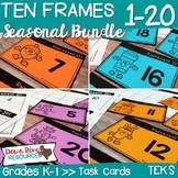 Ten Frames for Kindergarten Seasonal Math Centers | Fall,