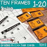 Ten Frames for Kindergarten Spring Math Center | Number Practice 1-20