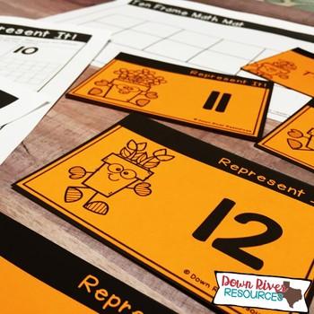 Ten Frames for Kindergarten Spring Math Center | Number Practice 1-20