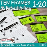 Ten Frames for Kindergarten St. Patrick's Day Math Center | Number Practice 1-20