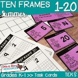 Ten Frames for Kindergarten Summer Math Center | Number Practice 1-20