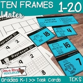Ten Frames for Kindergarten Winter Math Center | Number Practice 1-20