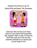 Ten Frames for Mental Math and Number Talk Discussions
