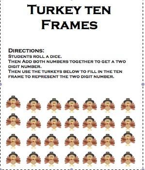 Ten Frames for Mr. Turkey
