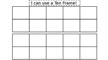 Ten Frames for TEEN Numbers