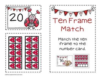 Ten Frames for Valentine's K.NBT.1