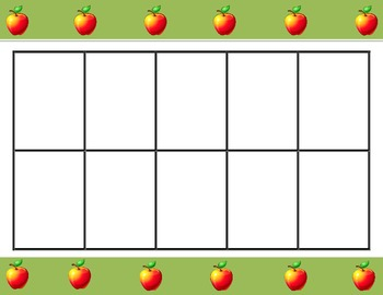 Ten Frames for the School Year