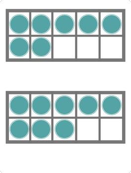 Ten Frames on Index Cards