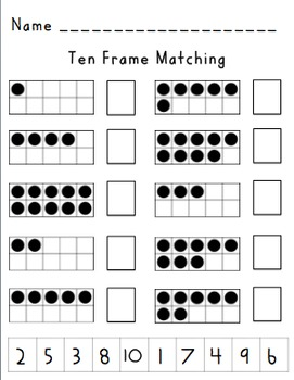 Ten Frames puzzles & Sequencing puzzles