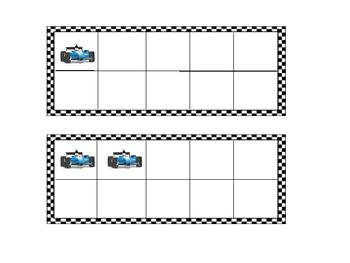 Ten Frames: race cars
