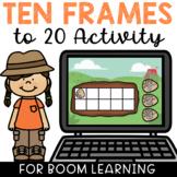 Ten Frames to 20 BOOM Cards Deck Paperless Digital Interactive Dino Theme