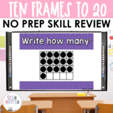 Ten Frames to 20 - Math Center Powerpoint See it Write it