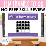 Ten Frames to 20 - Math Center
