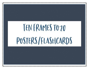Ten Frames to 20 Posters/Flashcards