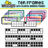 Ten Frames with Borders Clipart