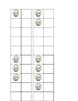 Ten Frames with Nickels