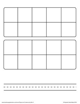 Ten Frames with Writing Lines