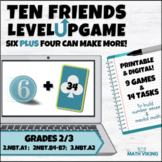 Ten Friends Games! 6+4 Making next ten or bridging tens di