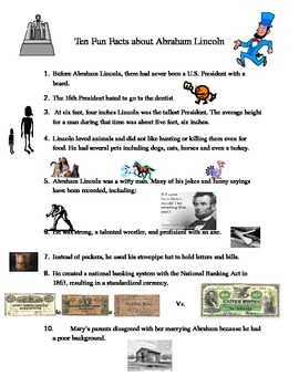 Ten Fun Facts About Abraham Lincoln