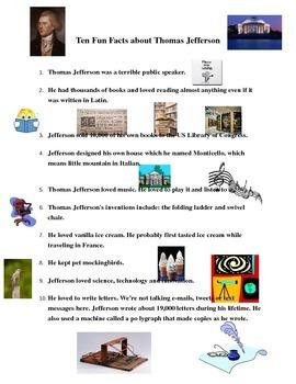 Ten Fun Facts About Thomas Jefferson