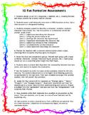 Ten Fun Formative Assessments