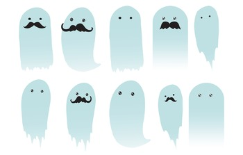 Ten Ghostly Characters: Ten Different Ghost Clip Art