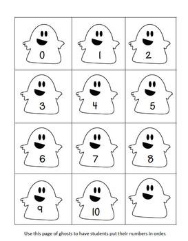 Ten Ghosts Number Order Freebie!