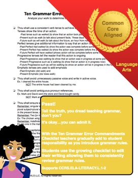 Common Core Language Checklist