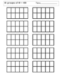 Ten Groups of Ten Sorting Tables