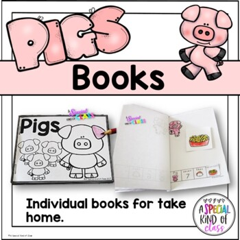 Ten Hungry Pigs Core Board and Activities for SPED